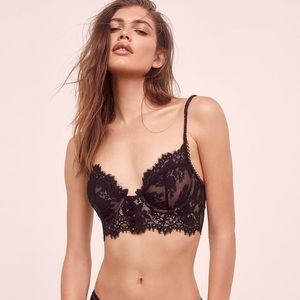 For Love And Lemons Faye Lace Underwire Bra